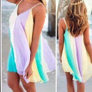Dresses & Skirts - Women's Summer Casual Colorful Chiffon Dress